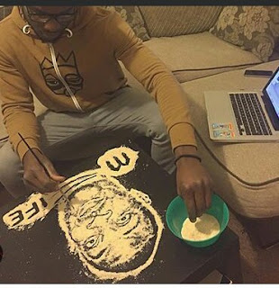 Check Out Artwork of Don Jazzy Made With Garri (PICS)