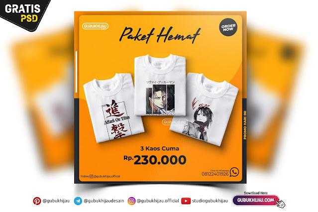 Desain Banner Promosi Paket Hemat