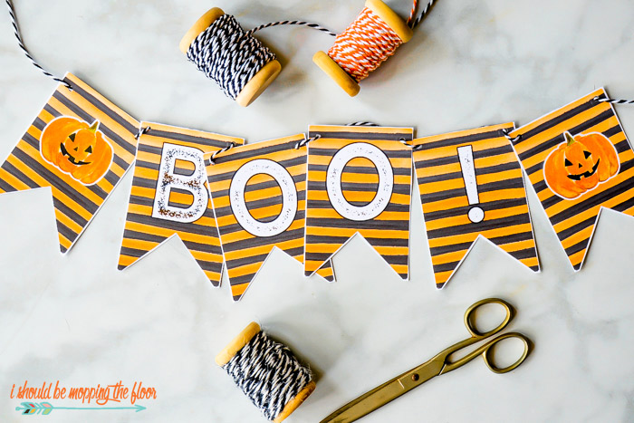 Boo Printable Banner