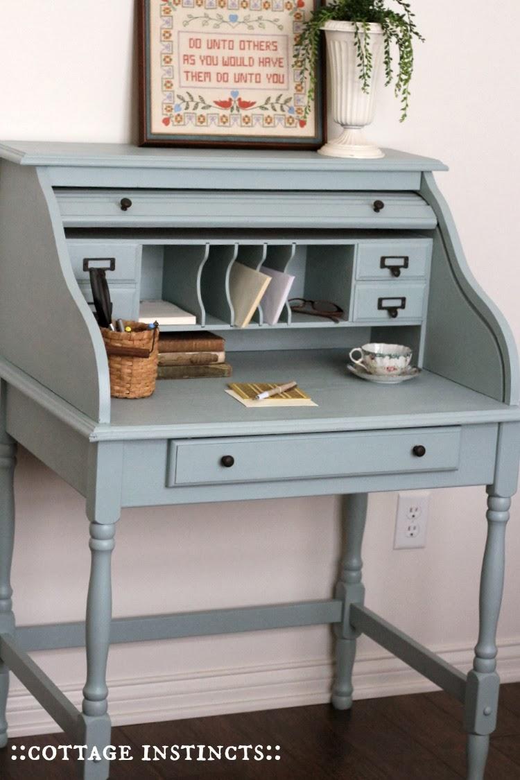 Vintage Writing Desk Makeover