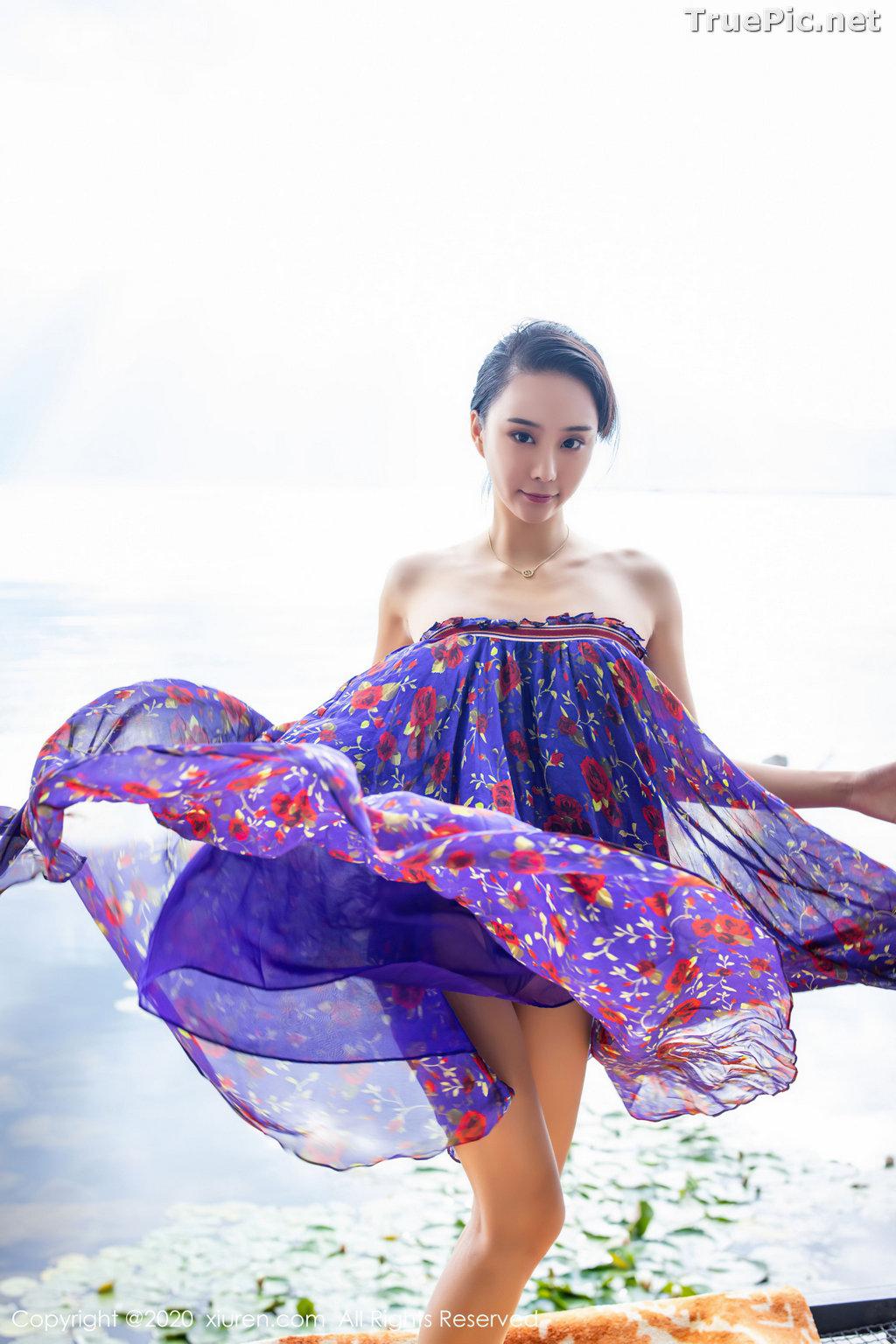 Image XIUREN No.2544 - Chinese Model - 蓝夏Akasha - Purple Queen - TruePic.net - Picture-33
