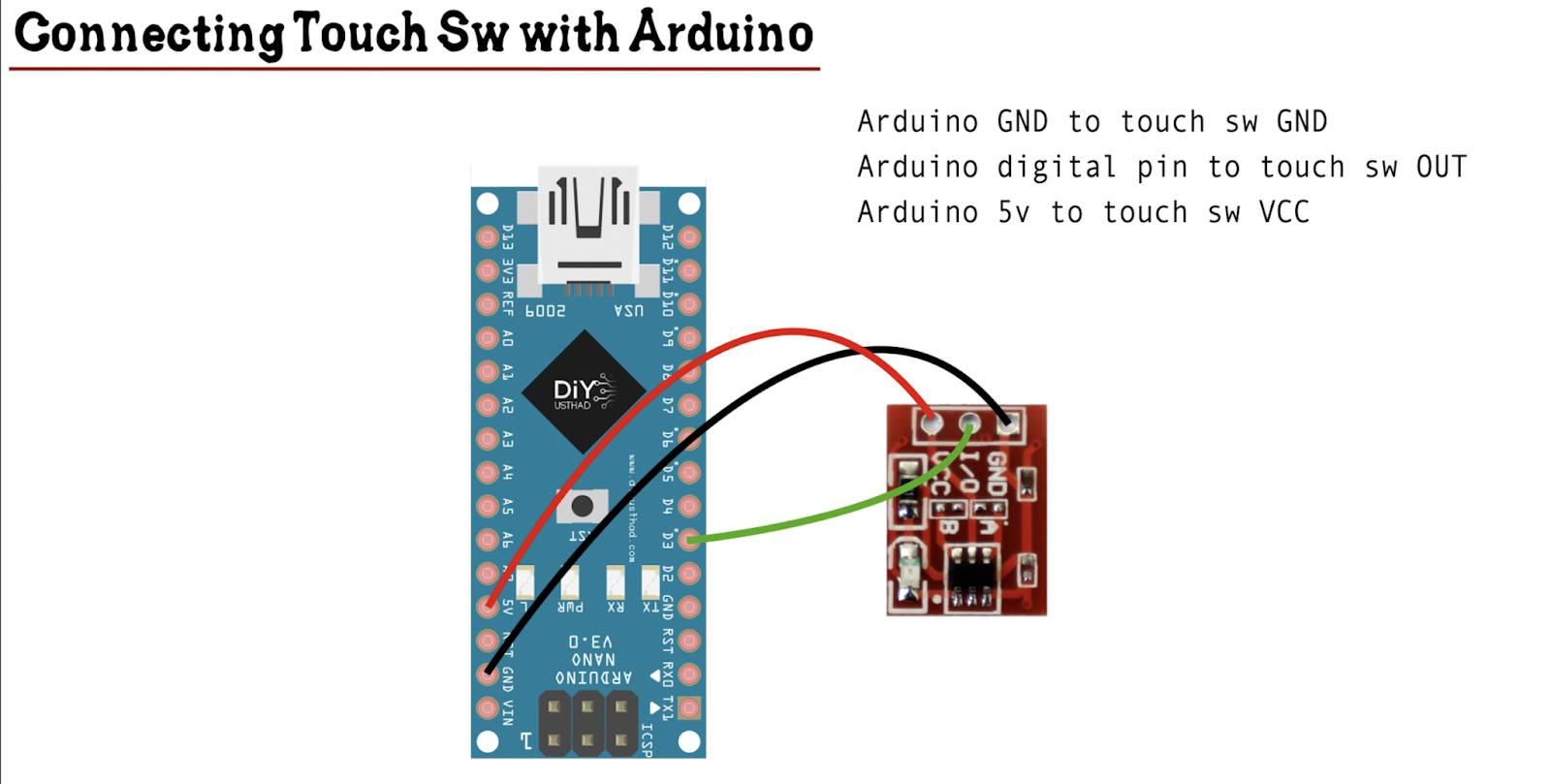 ttp223 touch switch with arduino