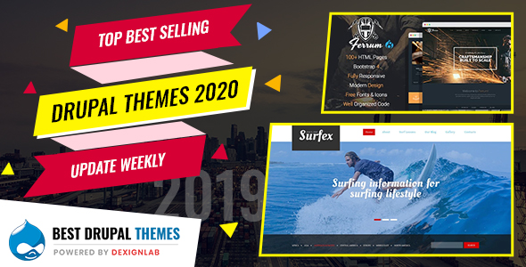 Top Best Selling Drupal Themes 2020 - Updated Weekly