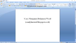 Cara Mengunci Dokumen Word Agar Tidak Bisa di Salin Tanpa Ijin