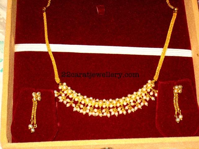 light necklace set gold