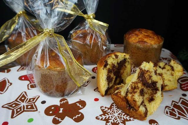 pan dulce de navidad o falso panettone para regalar