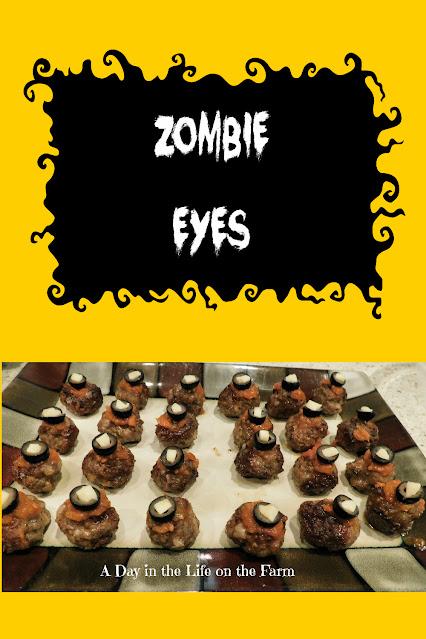 Zombie Eye Meatballs pin