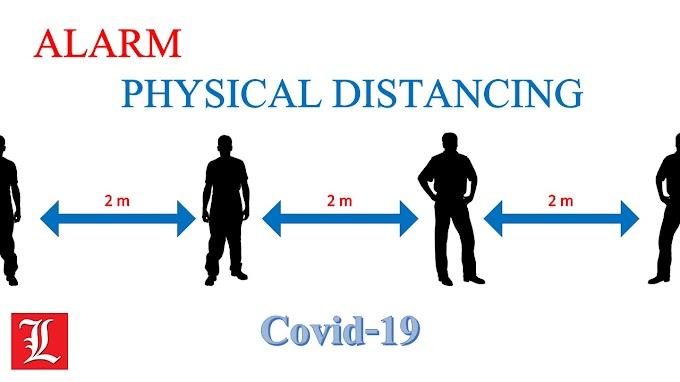Alarm Physical Distancing untuk Covid-19 menggunakan Sensor Ultrasonic HC-SR04