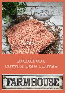 Handmade Orange Dish Cloths