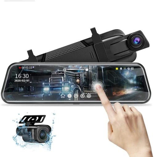 Jansite Night Vision 1080P Mirror Dash Cam