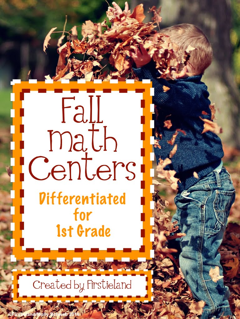 Differentiated Fall Math Centers for First Grade