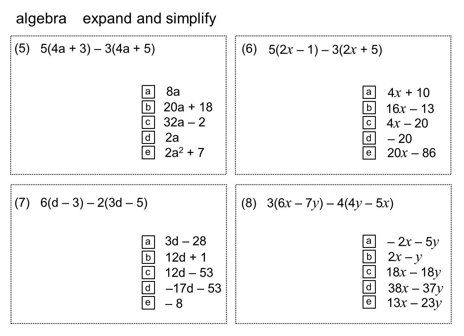 Median Practice And Quiz Questions Algebra Simplification 1