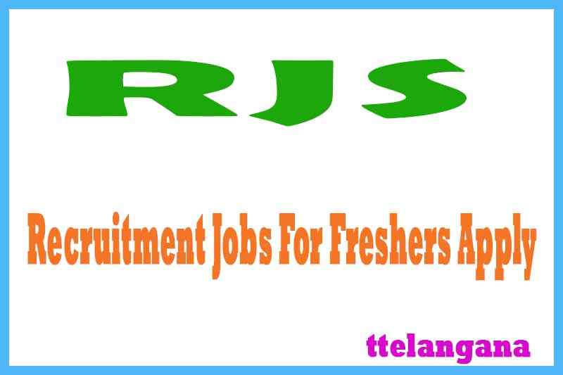 RJS Recruitment Jobs For Freshers Apply