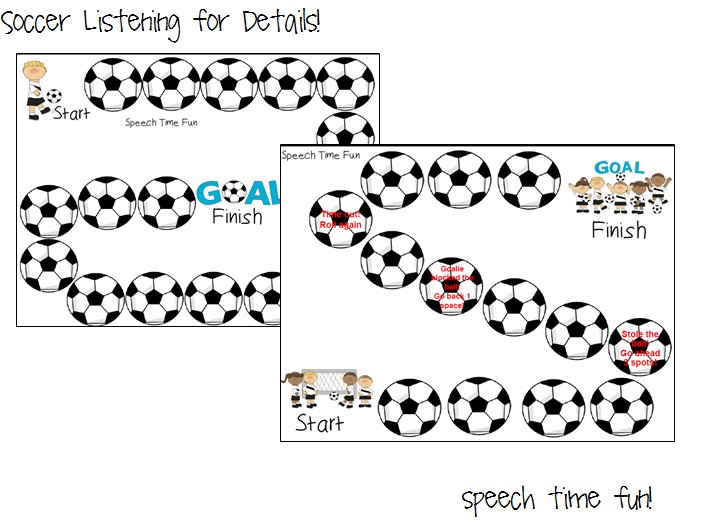 Speech Time Fun: Soccer Listening For Details!