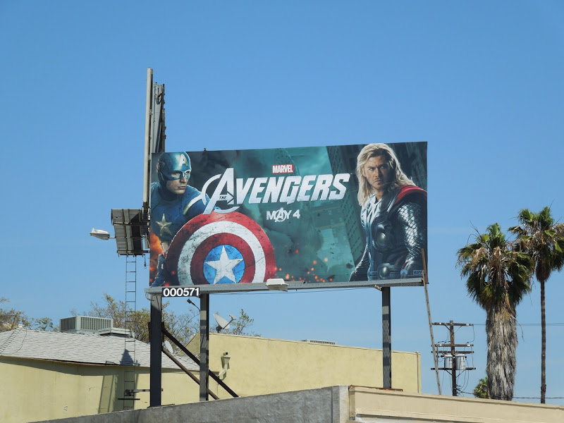 Avengers Captain America and Thor billboard