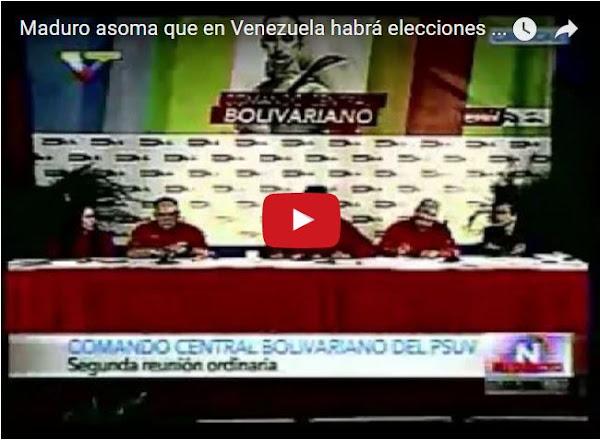 Habrá elecciones cuando las encuestas den por ganador a Maduro