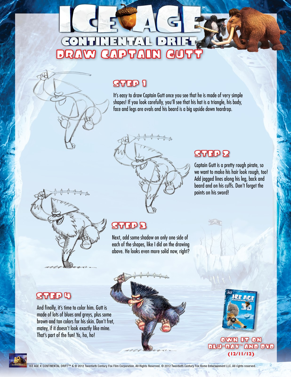 Free Ice Age Continental Drift Holiday E Card And