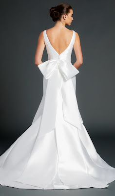 Anne Barge Bateau Neckline Sleeveless Fit and Flare Bridal Dress