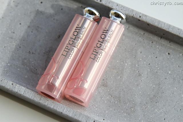 Новые бальзамы для губ DIOR addict lip glow (001 pink, 012 rosewood)