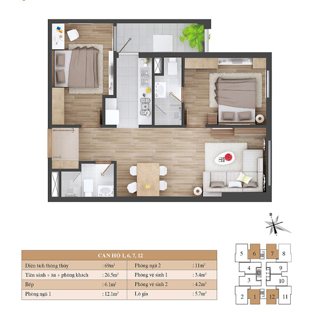 Thiết kế căn hộ 01 06 07 12