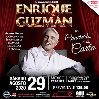 Enrique Guzmán está emocionado por su próximo concierto vía Streaming