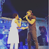 [photos] Flavour and Chidinma kiss while on stage in Onitsha