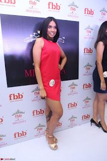 Spatika Surapaneni in Red Tight Dress at FBB Miss India 2017 finalists at Telangana auditions Feb 2017 (14).JPG