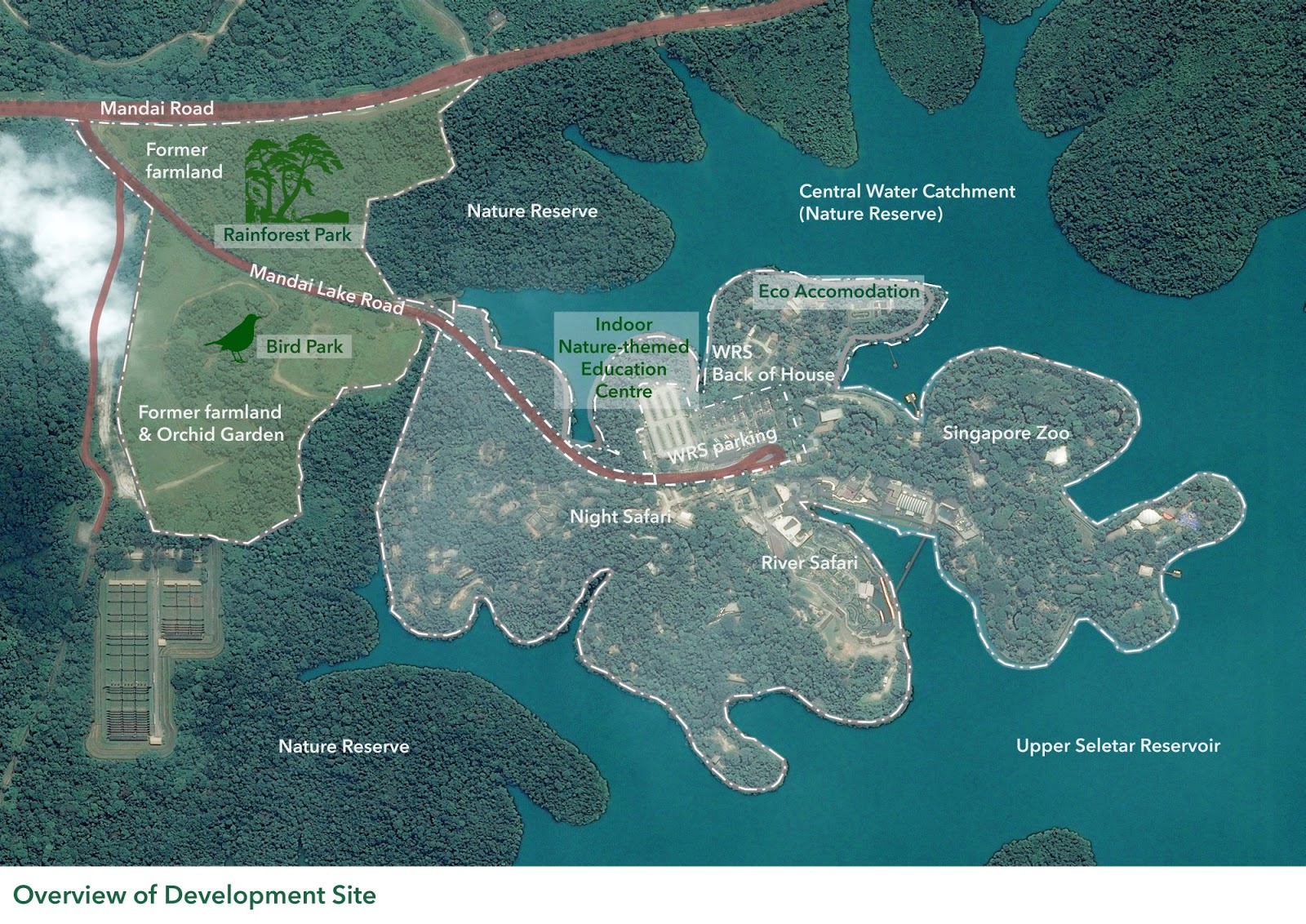 When the Mandai nature precinct is complete by 2023, two new wildlife parks - the Rainforest Park and the Bird Park - will join the existing trio: the Singapore Zoo, the River Safari and the Night Safari.<br>