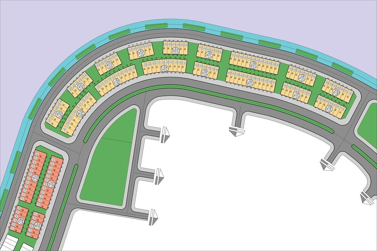 Mặt bằng dự án Shophouse Tuần Châu Marina