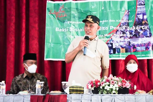 Bantu Korban Kebakaran Pasar Bawah, Gubernur Puji Kepedulian Indo Jalito Pada Kampung Halaman