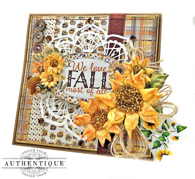 Fall Cards with Really Reasonable Ribbon by Kathy Clement
