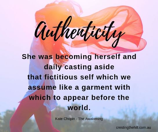 She was becoming herself and daily casting aside that fictitious self which we assume like a garment with which to appear before the world. Kate Chopin #inspirationalquotes
