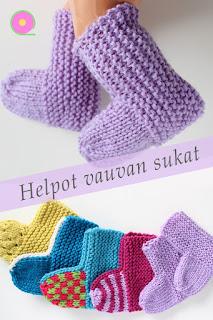 Helpot neulotut vauvan sukat
