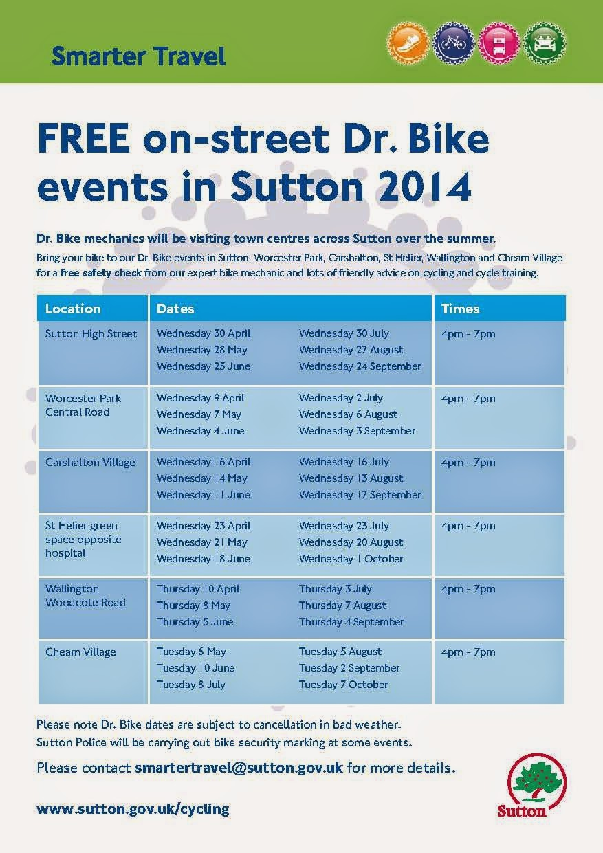 Dr Bike Events in Sutton, Summer 2014