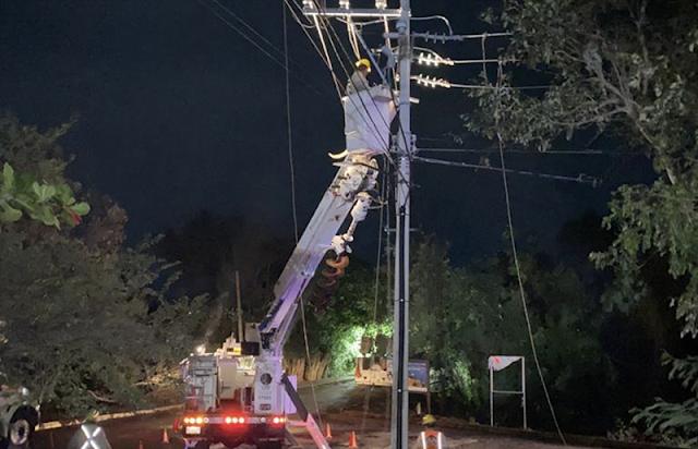 Restablecido el 90% del suministro eléctrico en Quintana Roo y Yucatán
