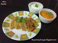 Here is easy to make potato filling Aloo Paratha Recipe is shared.