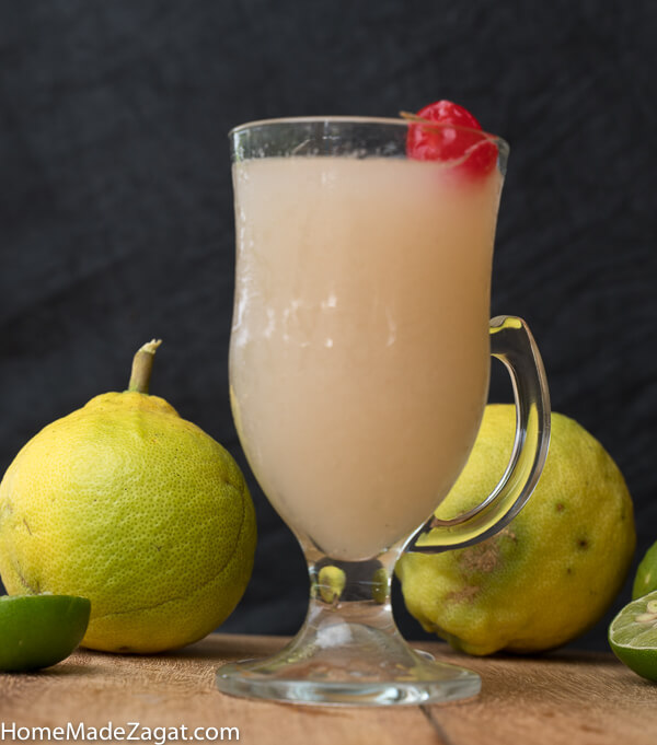 A full glass of refreshing soursop juice