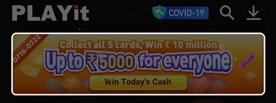 Collect all 5 Cards & Win ₹10Million Paytm Up to ₹5000 for everyone