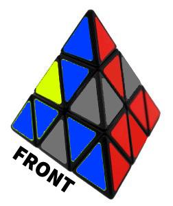 penyelesaian lapisan pertama pyraminx 2