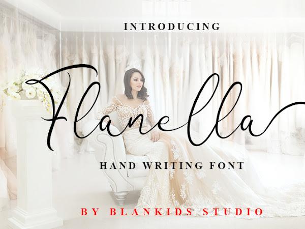 Flanella Feminine Script Font Free Downlaod