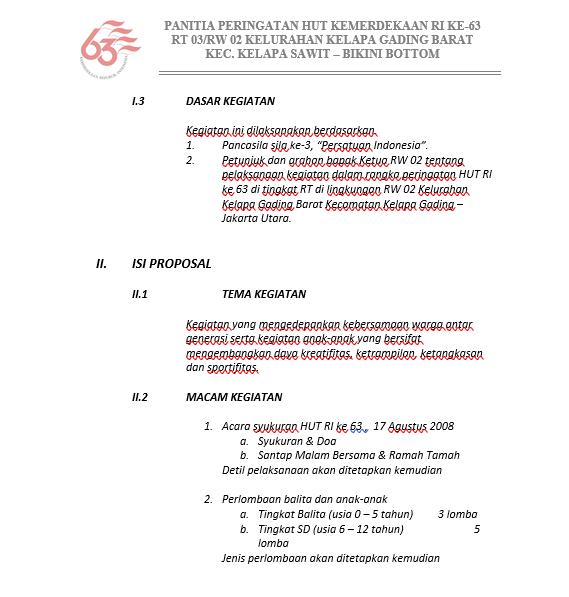 Kegiatan Proposal 17 Agustus