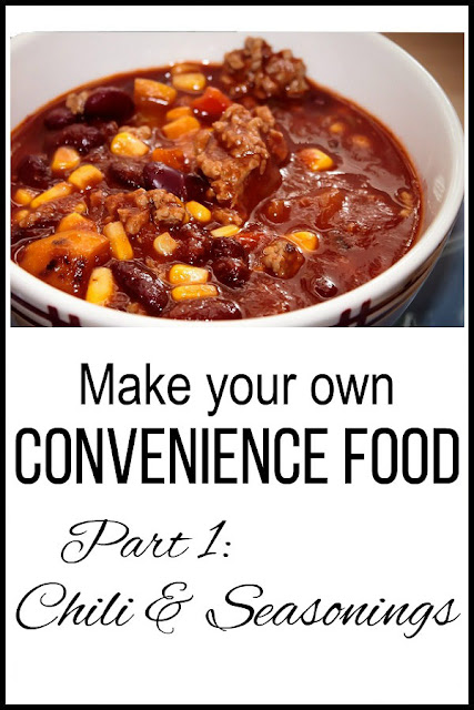 Are you rushed for time? Frustrated trying to get dinner on the table? This series will show you how to make your own convenience food using healthier ingredients for less money. Part One shows you how to make your own chili seasoning AND save time. #recipe #fromscratch #frugal