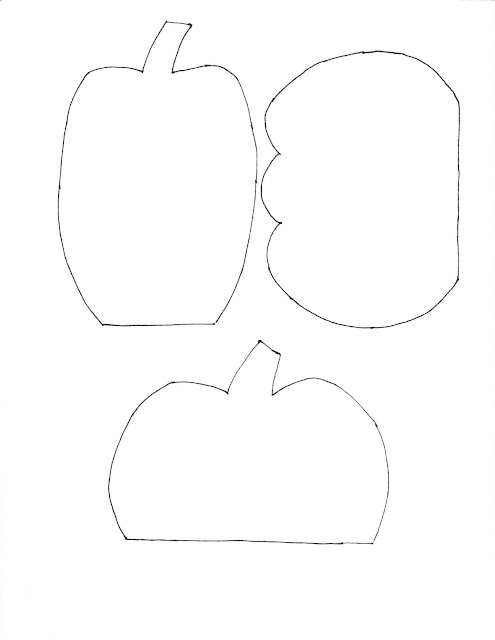 printable pumpkin template - 3 pumpkins
