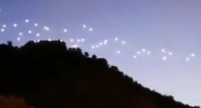 This is the UFO Orbs before they get in neat rows.