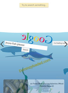 Google Underwater search page