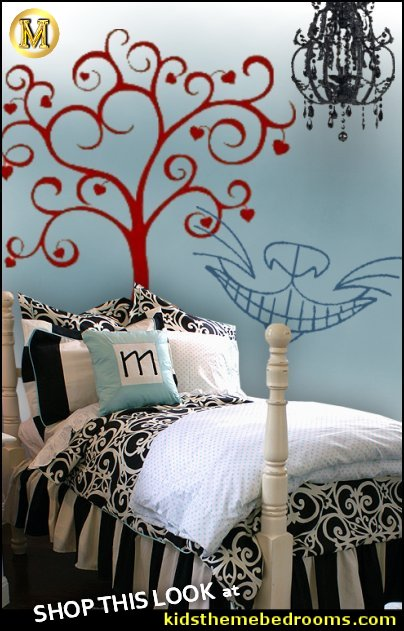 alice in wonderland bedroom ideas alice in woderland decorating wall decals