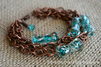 blue and copper bracelet