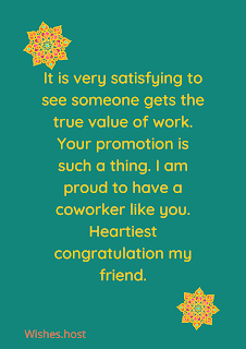 wishes of success on promotion