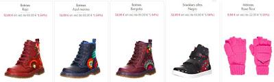 ejemplos de calzado y complementos para nino y nina