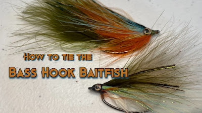 How to tie a fly, How to tie the Bass Hook Baitfish, Bass Hook Baitfish, Tuesday Tie, Pat Kellner, Texas Freshwater Fly Fishing, TFFF, Fly Fishing Texas, Texas Fly Fishing, Fly Tying, Texas Fly Tying, Fly on a Bass Hook
